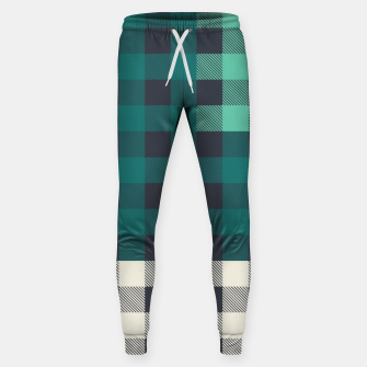 Imagen en miniatura de PATCHWORK BUFFALO CHECK IN TEAL Sweatpants, Live Heroes
