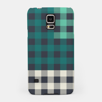 Thumbnail image of PATCHWORK BUFFALO CHECK IN TEAL Samsung Case, Live Heroes