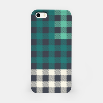 Imagen en miniatura de PATCHWORK BUFFALO CHECK IN TEAL iPhone Case, Live Heroes