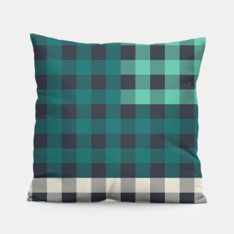 Imagen en miniatura de PATCHWORK BUFFALO CHECK IN TEAL Pillow, Live Heroes