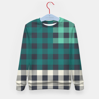 Imagen en miniatura de PATCHWORK BUFFALO CHECK IN TEAL Kid's sweater, Live Heroes