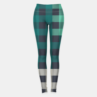 Imagen en miniatura de PATCHWORK BUFFALO CHECK IN TEAL Leggings, Live Heroes