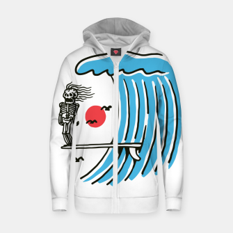 Thumbnail image of Funny Surf Nose Zip up hoodie, Live Heroes