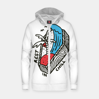 Thumbnail image of Rest in Chill Zip up hoodie, Live Heroes