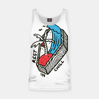 Thumbnail image of Rest in Chill Tank Top, Live Heroes