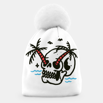 Thumbnail image of Skull Coconut Trees Beanie, Live Heroes