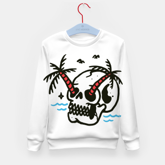 Thumbnail image of Skull Coconut Trees Kid's sweater, Live Heroes