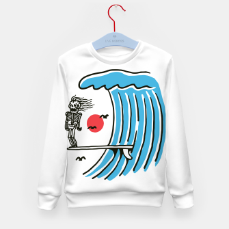 Miniatur Funny Surf Nose Kid's sweater, Live Heroes