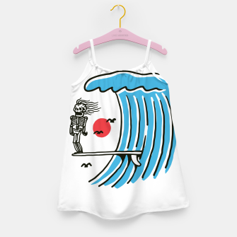 Miniatur Funny Surf Nose Girl's dress, Live Heroes