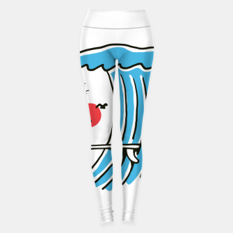 Thumbnail image of Funny Surf Nose Leggings, Live Heroes