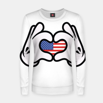 Thumbnail image of Hand Symbol of Love America Women sweater, Live Heroes
