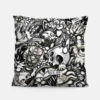 Thumbnail image of Still Here BW Pillow, Live Heroes