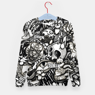 Thumbnail image of Still Here BW Kid's sweater, Live Heroes