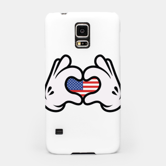 Thumbnail image of Hand Symbol of Love America Samsung Case, Live Heroes