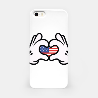 Thumbnail image of Hand Symbol of Love America iPhone Case, Live Heroes