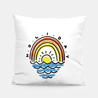 Thumbnail image of Holiday Beach Pillow, Live Heroes