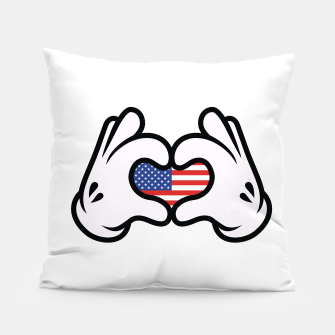Thumbnail image of Hand Symbol of Love America Pillow, Live Heroes