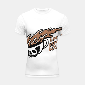 Miniatur Death Before Decaf Shortsleeve rashguard, Live Heroes