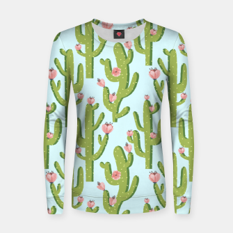 Thumbnail image of Summer Cactus Women sweater, Live Heroes