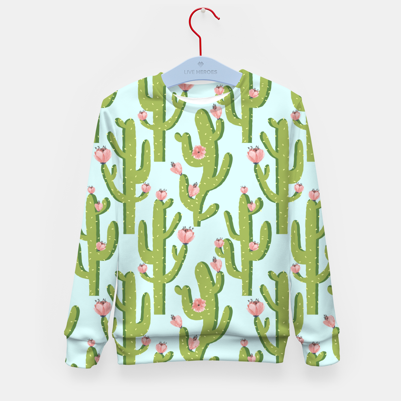 Image of Summer Cactus Kid's sweater - Live Heroes