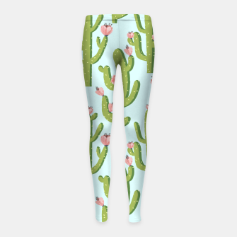 Thumbnail image of Summer Cactus Girl's leggings, Live Heroes