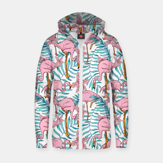 Thumbnail image of Boho Flamingo Zip up hoodie, Live Heroes
