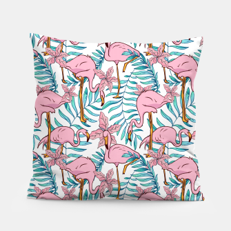 Boho Flamingo Pillow thumbnail image