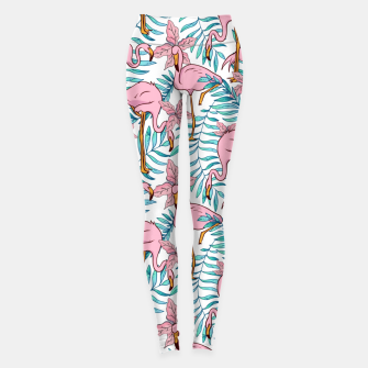 Thumbnail image of Boho Flamingo Leggings, Live Heroes