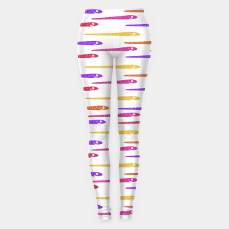 Miniaturka Cartoon Style Snakes Drawing Motif Pattern Leggings, Live Heroes