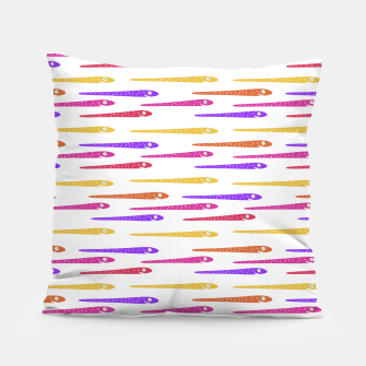 Miniaturka Cartoon Style Snakes Drawing Motif Pattern Pillow, Live Heroes