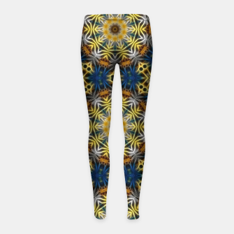 Thumbnail image of Daisies Kaleidoscope Girl's leggings, Live Heroes