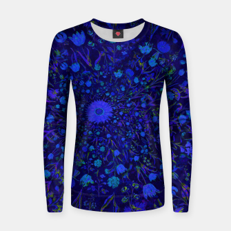 Miniatur Blue Medieval Flowers Women sweater, Live Heroes