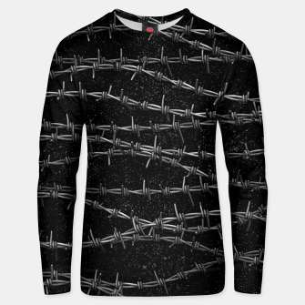 Thumbnail image of Bouquets of Barbed Wire Unisex sweater, Live Heroes
