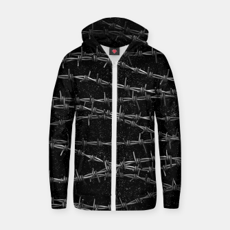 Thumbnail image of Bouquets of Barbed Wire Zip up hoodie, Live Heroes