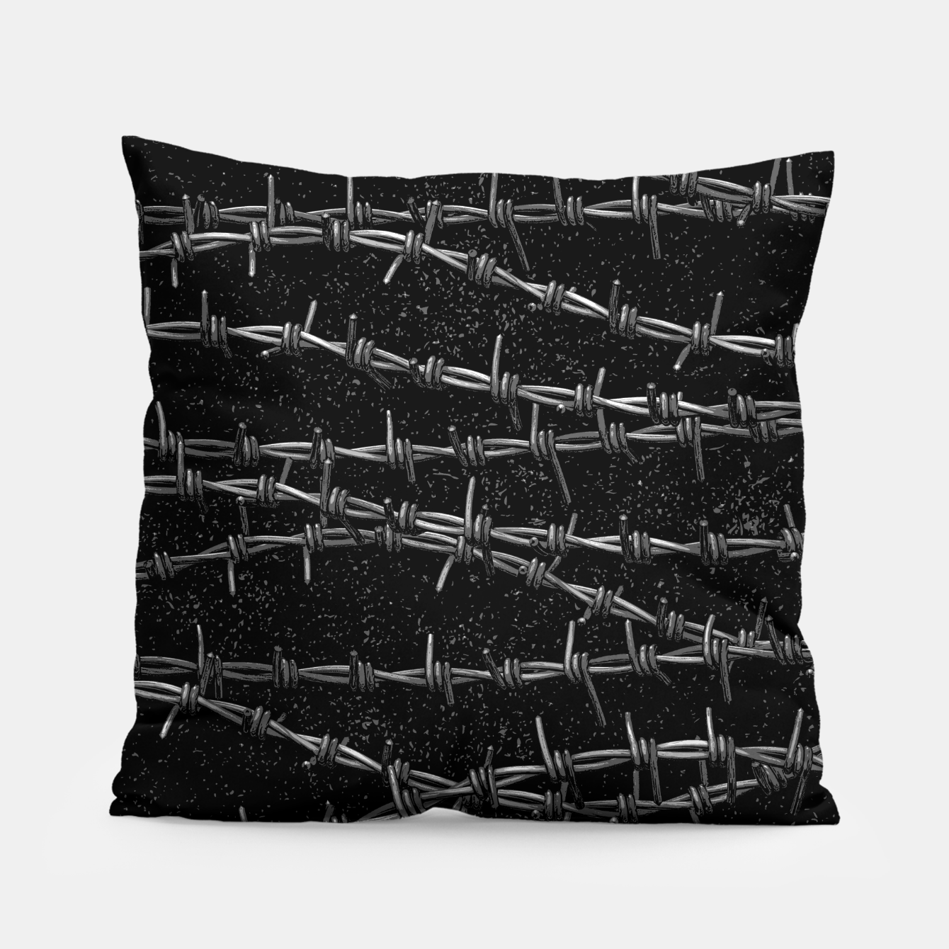 Image of Bouquets of Barbed Wire Pillow - Live Heroes