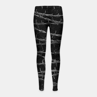 Thumbnail image of Bouquets of Barbed Wire Girl's leggings, Live Heroes