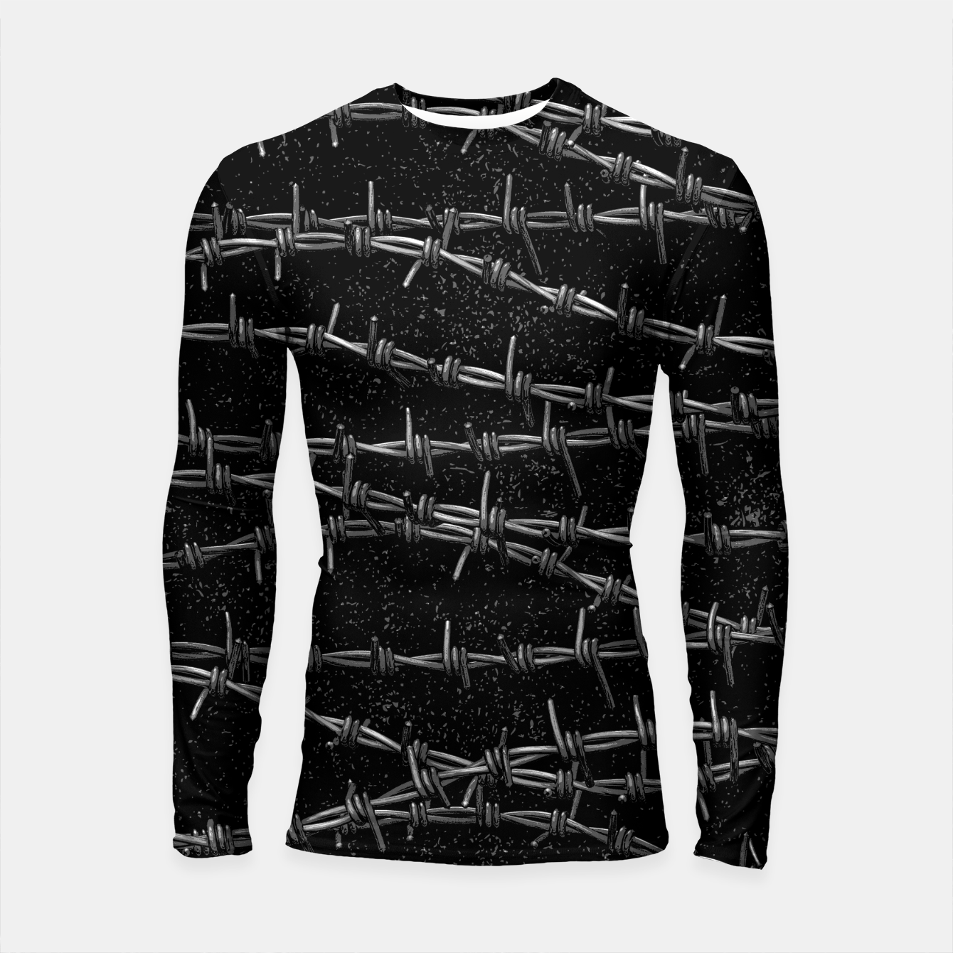 Image of Bouquets of Barbed Wire Longsleeve rashguard  - Live Heroes