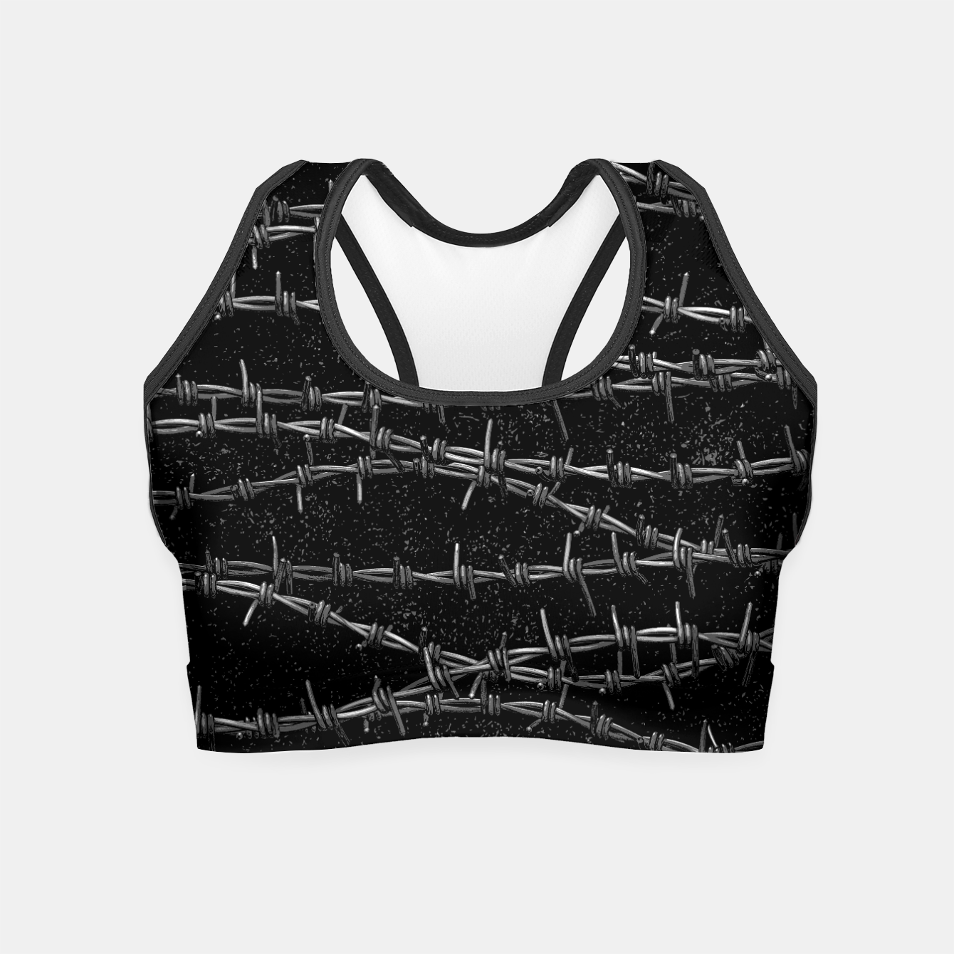 Image of Bouquets of Barbed Wire Crop Top - Live Heroes