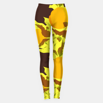 Thumbnail image of Closed roses bud on yellow Leggings, Live Heroes