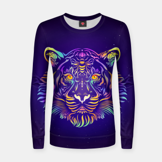 Miniatur Psychedelic Tiger by #Bizzartino Women sweater, Live Heroes