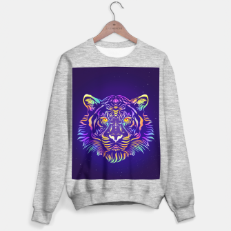 Miniatur Psychedelic Tiger by #Bizzartino Sweater regular, Live Heroes