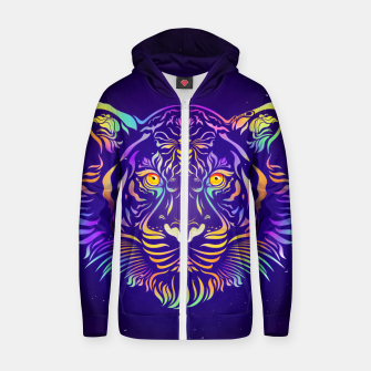 Miniatur Psychedelic Tiger by #Bizzartino Zip up hoodie, Live Heroes