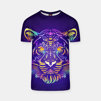 Miniatur Psychedelic Tiger by #Bizzartino T-shirt, Live Heroes