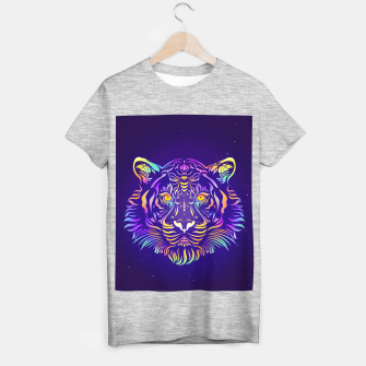 Miniatur Psychedelic Tiger by #Bizzartino T-shirt regular, Live Heroes