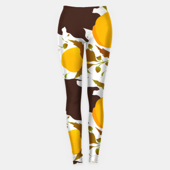 Closed roses bud on white Leggings thumbnail image