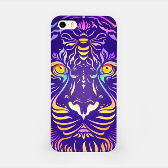 Miniatur Psychedelic Tiger by #Bizzartino iPhone Case, Live Heroes