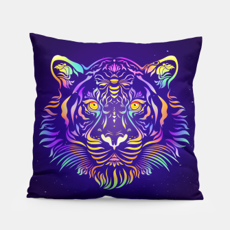 Miniatur Psychedelic Tiger by #Bizzartino Pillow, Live Heroes