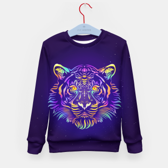 Miniatur Psychedelic Tiger by #Bizzartino Kid's sweater, Live Heroes