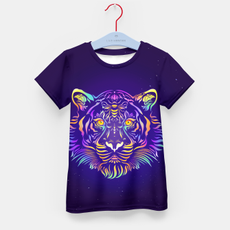 Miniatur Psychedelic Tiger by #Bizzartino Kid's t-shirt, Live Heroes