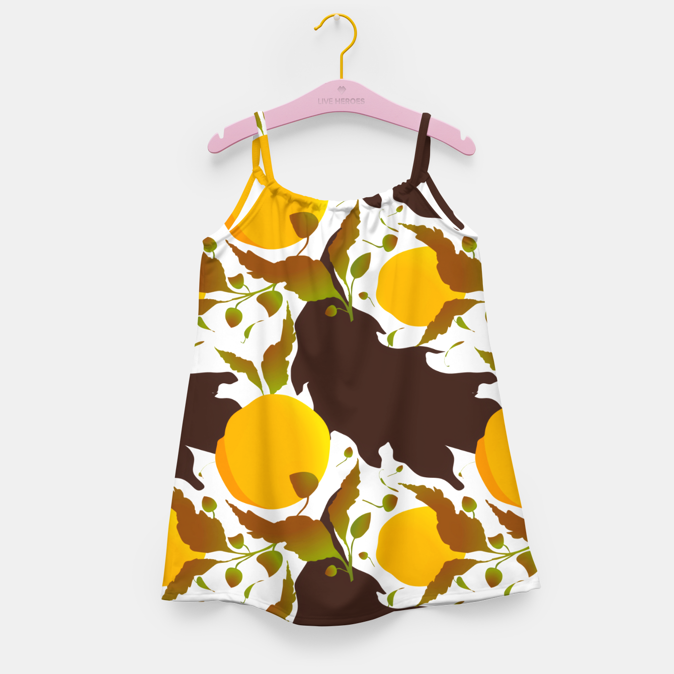 Image of Closed roses bud on white Vestido para niñas - Live Heroes